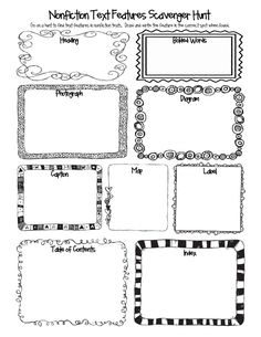 Text Features scavenger hunt for informational text Reading Lessons, Reading Skills, Reading Strategies, Reading Comprehension, Guided Reading, Library Lessons, Comprehension Strategies, Ell Strategies, Shared Reading