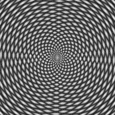 illusion black white gray   Stock image of 'Optical illusion, black and white'