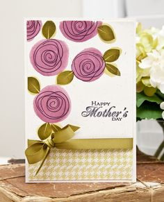 Watercolor Wonder » A New Design blog. Really liking the artistic look of the roses with the watercolor circles.
