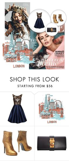 """Classic London"" by lostwanderer4eva ❤ liked on Polyvore featuring мода, Chi Chi, Magma, Ines Della Rovere London и Hermès"