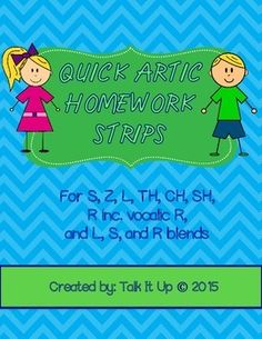 Quick Artic Homework Strips