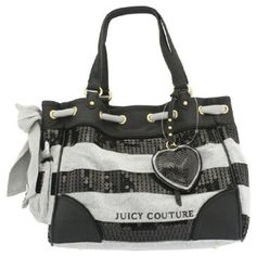 Juicy Couture Sequin Stripes Daydreamer Heather Cozy Handbag $259.99