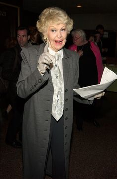 Every time she rocked menswear better than any man.   19 Times Elaine Stritch Taught Us How To Wear Clothes