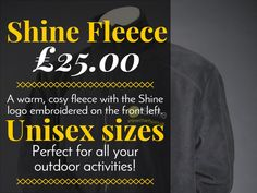 A cosy hoodie with the Shine logo on the front and back, so you can show your support for our work.