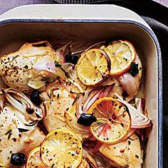 Chicken with Olives and Lemons | MyRecipes.com #MyPlate #protein