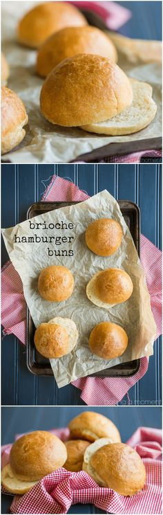 Soft Overnight Brioche Hamburger Buns: these totally took our burgers and sandwiches to the next level! food recipes bread