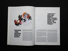 """The brief for this assignment was to create and develop a visual identity for a magazine, beginning with a name and a masthead, as well as to design the cover and a two spreads based on the provided articles; Ellen Lupton's """"White Space"""" and Kenya Hara's … Time Design, Publication Design, White Space, Glyphs, Magazine Design, Visual Identity, Kenya, Spreads, Magazines"""