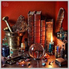 The Alchemist's Workshop or Laboratory