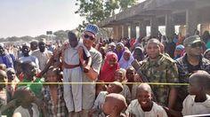 Ben Murray-Bruce Playing With Children At Dalori IDP Camp, Borno