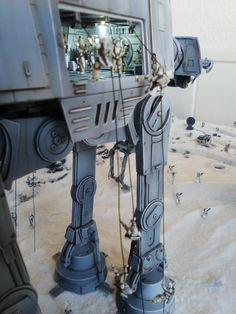 Battle of Hoth Diorama by L&M Studio Star Wars Toys, Star Wars Art, Star Trek, Figuras Star Wars, Star Troopers, Star Wars Design, Star Wars Vehicles, Star Wars Merchandise, Star Wars Models
