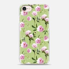 Peonies in her dreams - Light Green - Snap Case