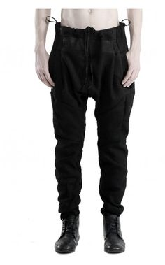 139DEC Raw cut wool pants