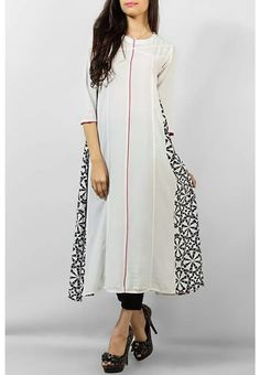 White Stylish Cotton Kurti for Women Pakistani Dress Design, Pakistani Outfits, Indian Outfits, Fashion Now, Asian Fashion, Fall Fashion, Kurta Designs Women, Blouse Designs, Simple Outfits