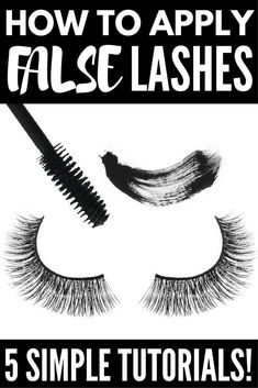 5 Tutorials to Teach You How to Apply False Eyelashes Properly | Looking for a good step by step video or tutorial for beginners to teach you how to apply false eyelashes? We've got you covered. We've rounded up 5 fabulous how-to tutorials that are loaded with different application tips, tricks, and hacks. We've included our favorite brands – full and individual – as well as some pointers on how to remove false lashes in a flash!