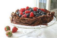 Melfri sjokoladekake. SUPERGOD! Tiramisu, Brownies, Sweet Tooth, Muffins, Chocolate, Baking, Ethnic Recipes, Desserts, Food