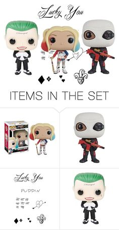 """""""Who's The Third Wheel, The Joker or Deadshot? LOL"""" by farrahdyna ❤ liked on Polyvore featuring art"""