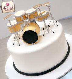 Birthday Cake With Drum Kit And Guitars