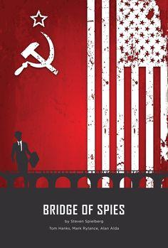 Bridge of Spies (2015) ~ Minimal Movie Poster by Darkopuzo ~ Oscars 2016 Nominees #amusementphile