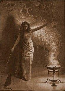 Casting her spell