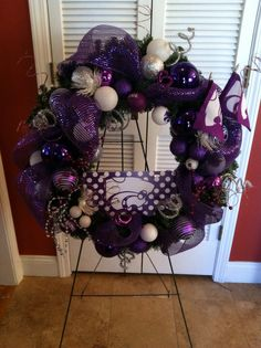 K-State wreath