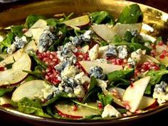 Always looking for fun salad combos. Pears, pomegranate and Gorgonzola. Yum!