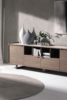 Sistema Wing Sideboard By Pacini U0026 Cappellini With Structure Veneered  Canaletto Walnut.