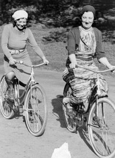 Mar. 1, 1933; [Two women bicycling in Golden Gate Park], undated.Courtesy of the San Francisco Historical Photograph Collection, San Francisco Public Library.