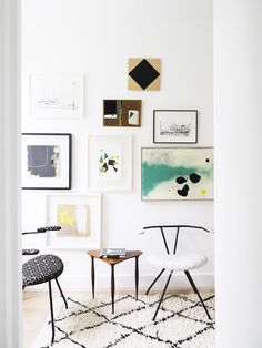 Modern gallery wall with the best art prints to shop online on Thou Swell @thouswellblog