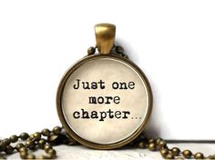 This booklovers' life motto necklace. More