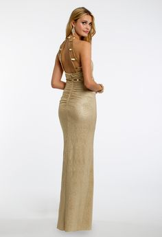 Gold Beaded Ladder Dress #camillelavie