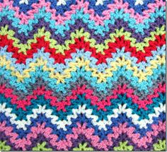 Crocheted Stripe. No pattern but if you know how to crochet you can enlarge the picture and figure it out.