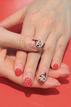 #nail #polish #moomin #littlemy #red #nailart