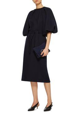 Puff Sleeve Dress by MARTIN GRANT Now Available on Moda Operandi