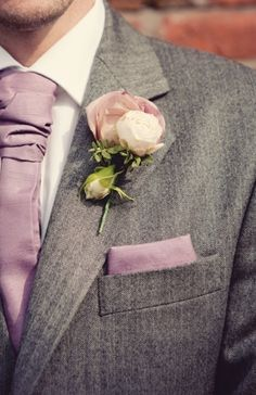 Inspiration for the groom - grey suit with dusky pink tie, pocket square and buttonhole - Dusky Pink Fairytale Wedding in An English Barn Wedding Men, Wedding Groom, Wedding Attire, Dream Wedding, Grey Wedding Suits, Wedding Suite, Groom And Groomsmen, Groom Attire, Groomsmen Attire Purple