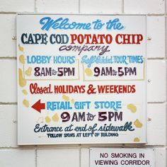 Cape Cod Potato Chip Factory in Hyannis, MA Tour info http://www.capecodchips.com/about-us/factory-tour.html