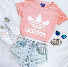 Immagine di adidas, outfit, and pink