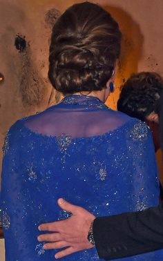 Kate wore her hair in a French style updo for her appearance at the Bollywood Inspired Charity Gala at the Taj Mahal Palace Hotel during the royal visit to India and Bhutan on April 10, 2016.