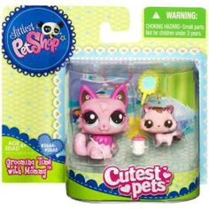 Littlest Pet Shop Cutest Pets Mommy & Baby Grooming Cats Figure 2 Pack