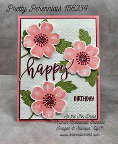 PrettyPerennials-CCMC646 Tarjetas Stampin Up, Stampin Up Cards, Flower Cards, Creative Cards, Greeting Cards Handmade, Pretty Flowers, Homemade Cards, Perennials, Cardmaking