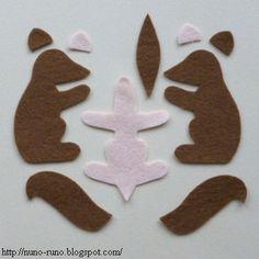 Felt Squirrel - free pattern