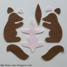 Felt Squirrel - free pattern