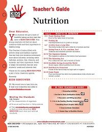 Free 12-page Teacher Guide for KIDS DISCOVER Nutrition. Click thru to download...
