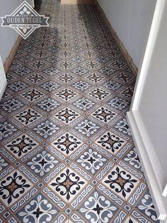 Portugese tegels en cementtegels Serie LILYZ BLACK 14x14 cm Collectie www.floorz.nl/portugese-tegels