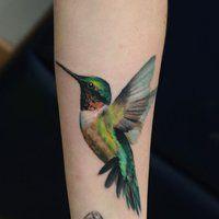 hummingbird tattoo tatuaje colibri by darwinenriquez
