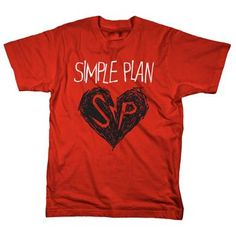 Simple Plan - Heart Drawing - T-shirts - Official Merch - Powered by MerchDirect XL