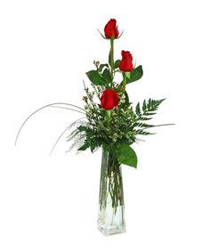 1eea223cdb48 3 Rose Budvase Same Day Flower Delivery