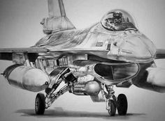 """""""One of my favourite drawings""""-james baldwin aviation art. F-16 More"""