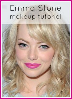 Video tutorial for Emma Stone's fresh makeup look   Being Spiffy