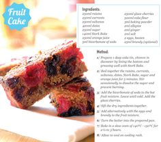 Fruit Cake (btw Stork Bake is shortening/butter) Stork Recipes, Cake Recipes, Christmas Treats, Christmas Time, Diwali Food, South African Recipes, Down South, Cake Flour, Cake Tins