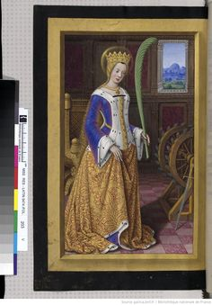 Heures d'Anne de Bretagne - interesting sideless surcoat